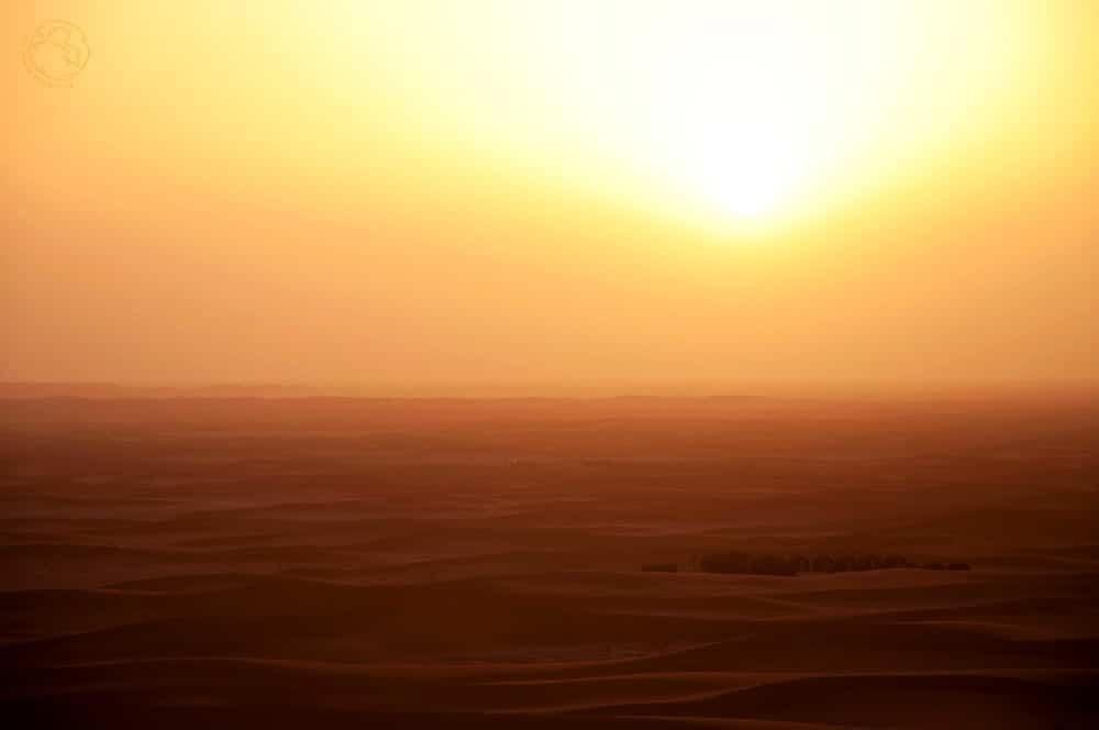 Amanecer en el desierto (Erg Chigaga)
