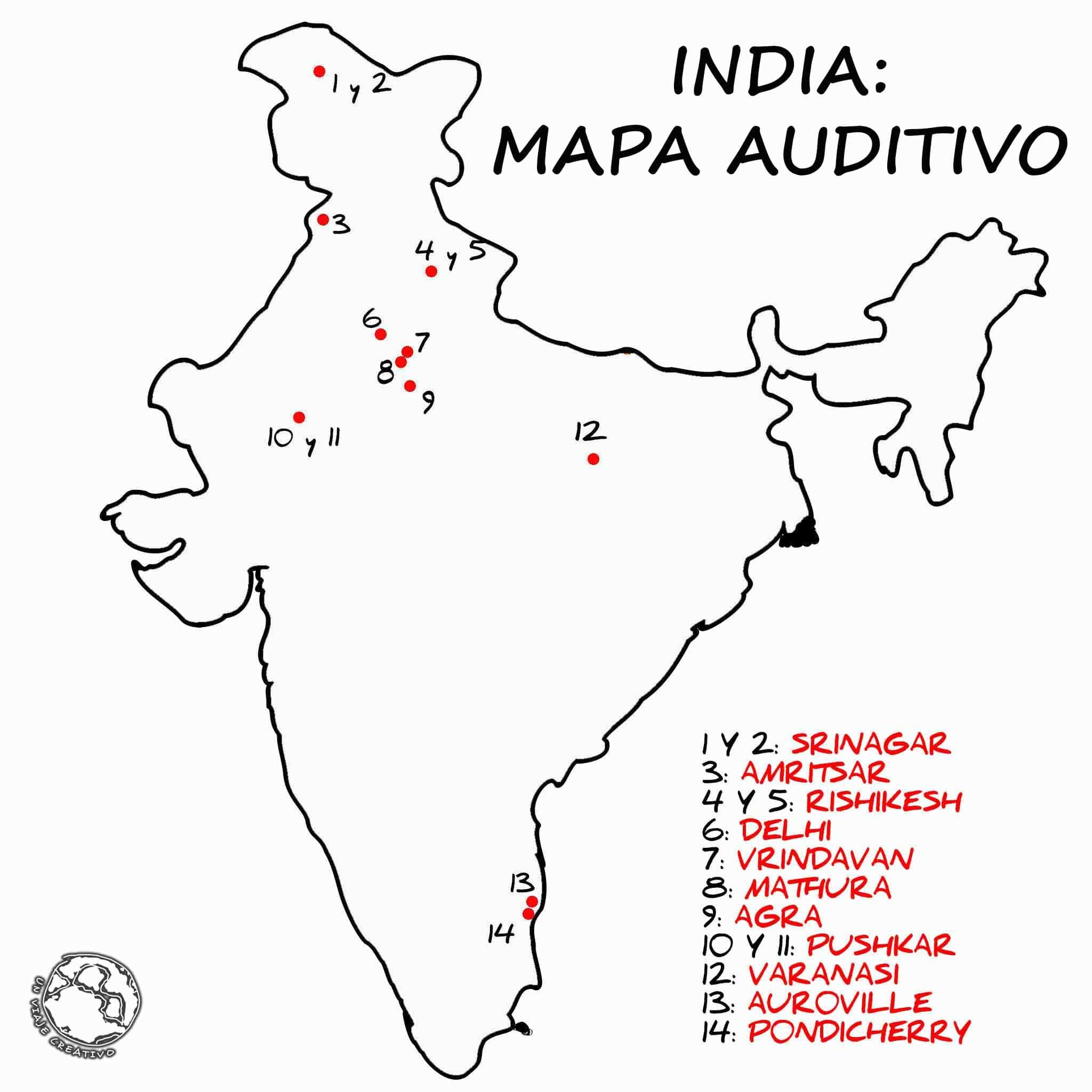 INDIA - MAPA AUDITIVO