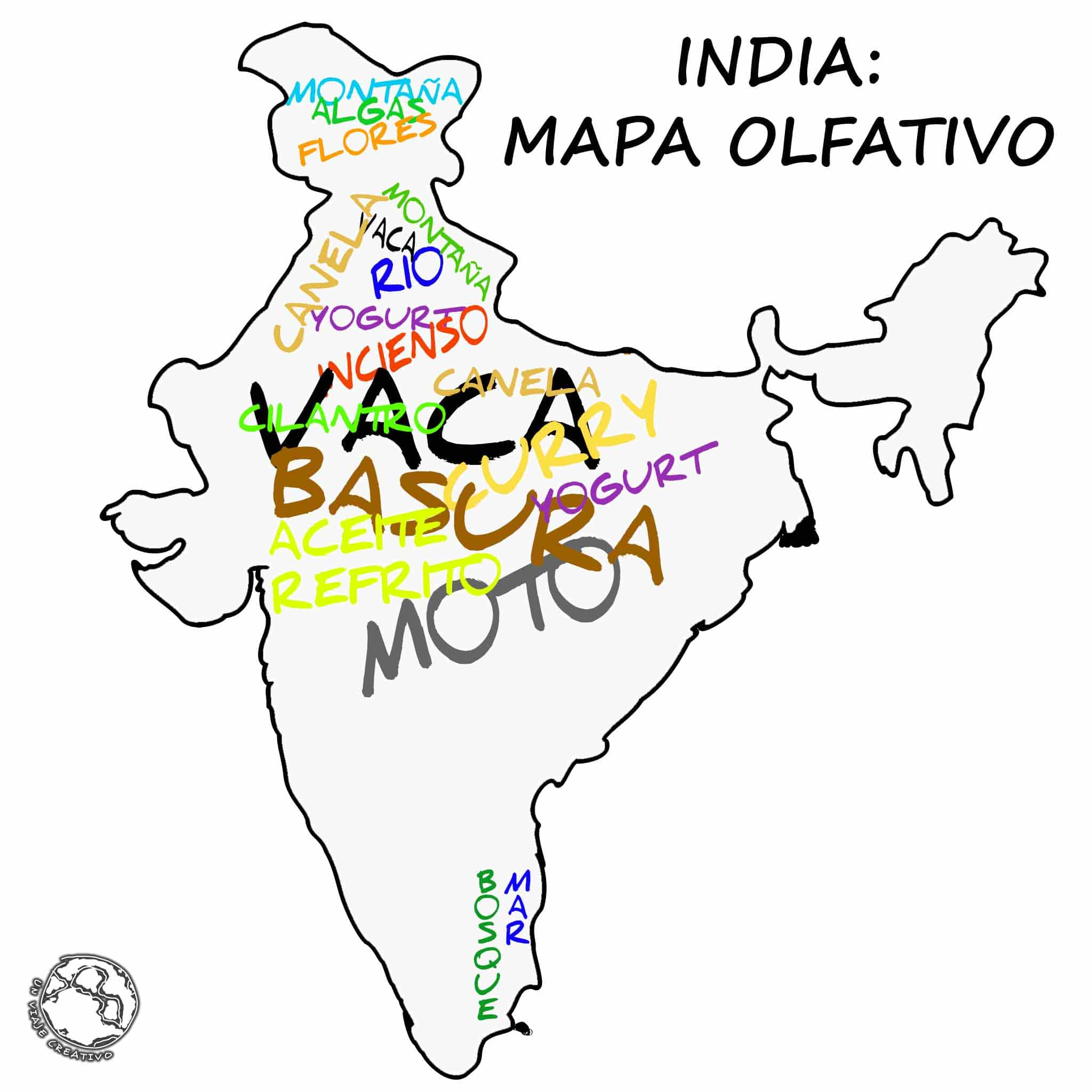 INDIA - MAPA OLFATIVO