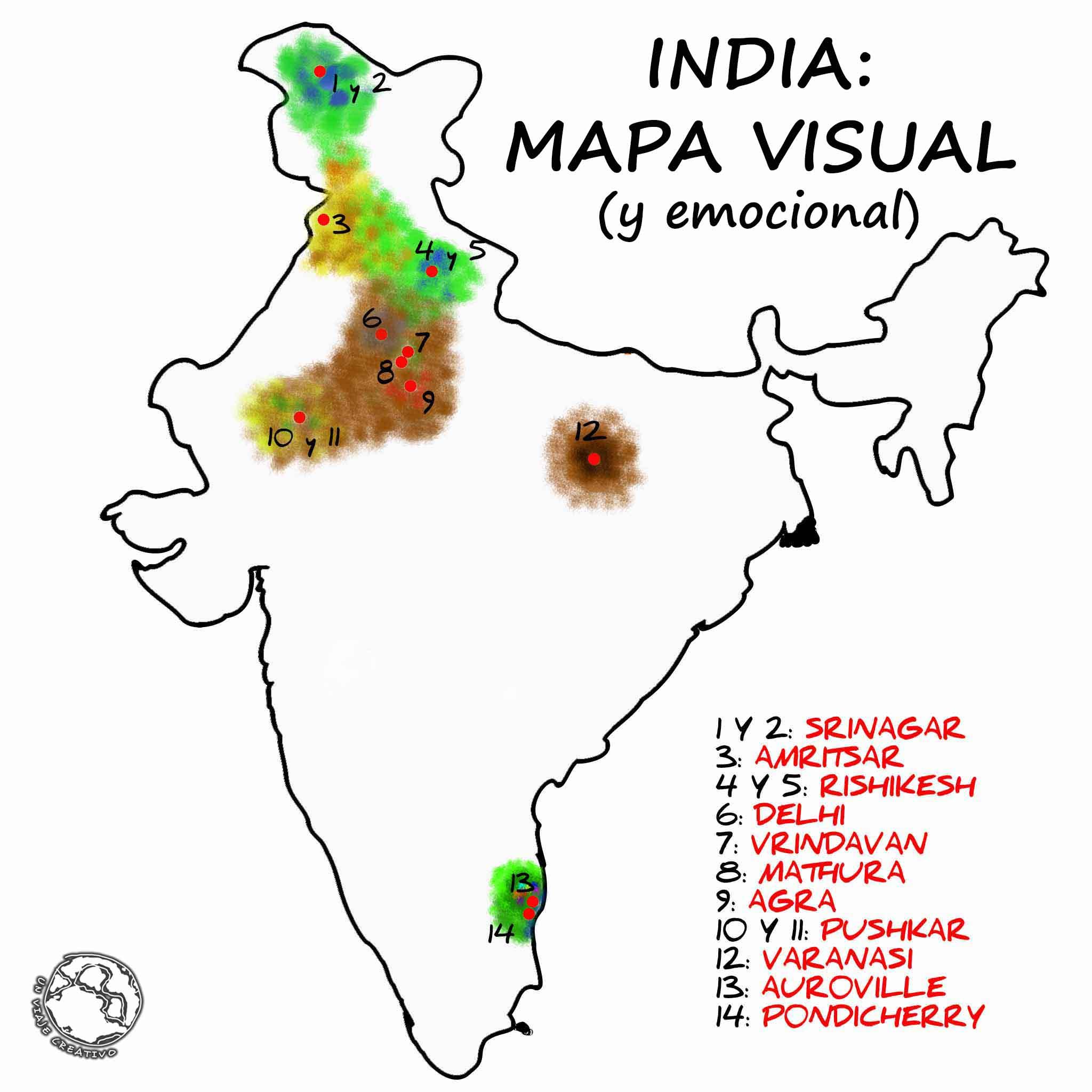INDIA - MAPA VISUAL