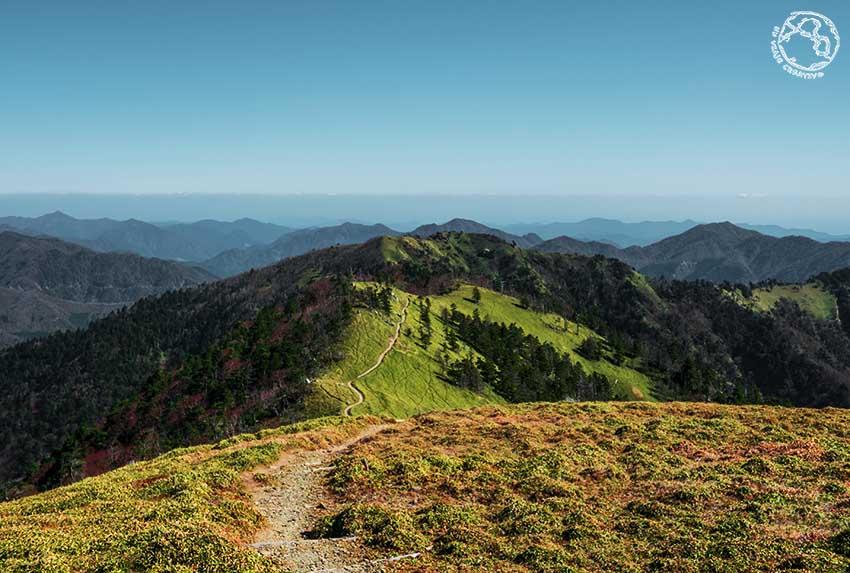 Desde la cima del monte Tsurugi, Shikoku