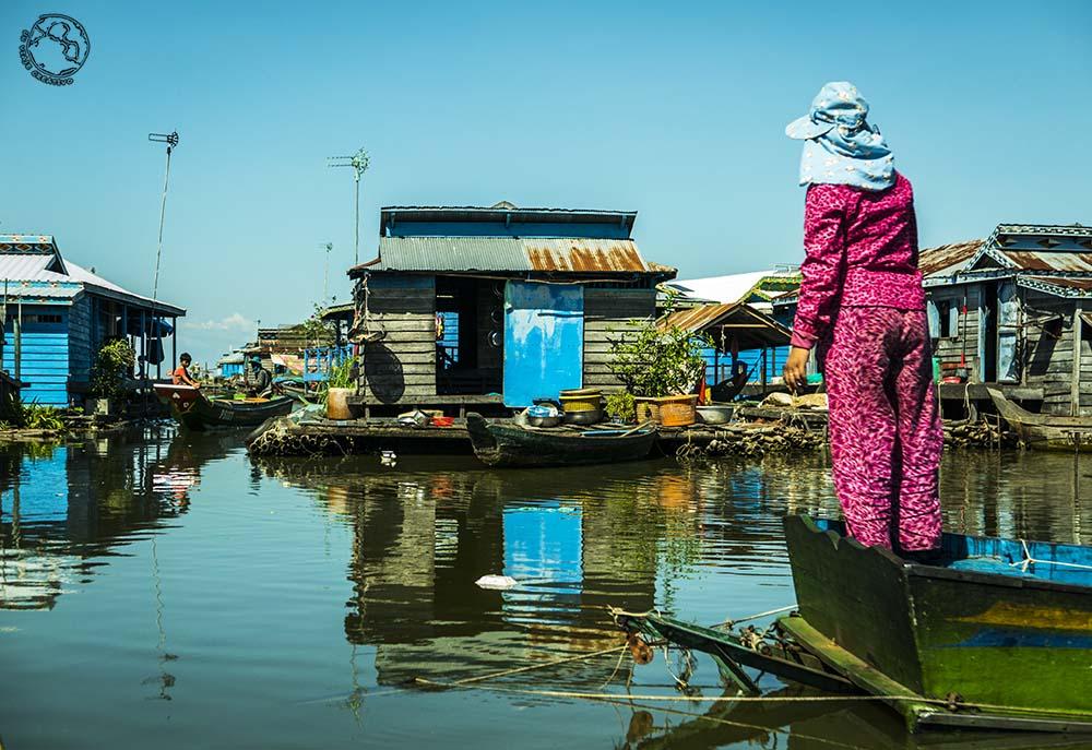 Un pueblo flotante de Camboya