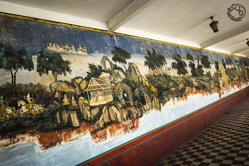 Frescos palacio Phom Penh