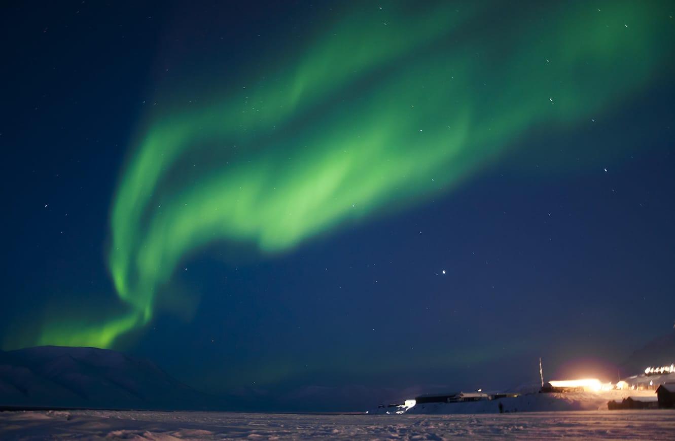 Aurora boreal Svalbard