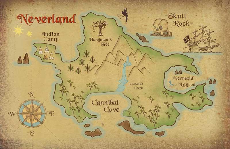 Mapa Nunca Jamás