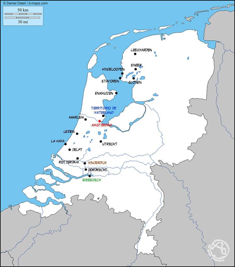 Que ver en Holanda, Mapa