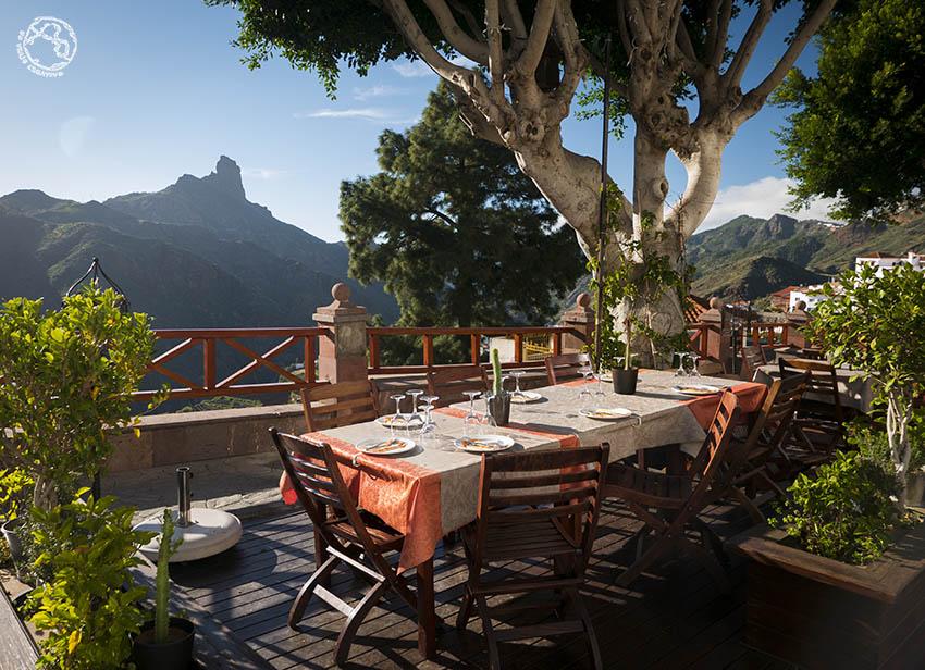 Restaurante en el pueblo de Tejeda, Gran Canaria