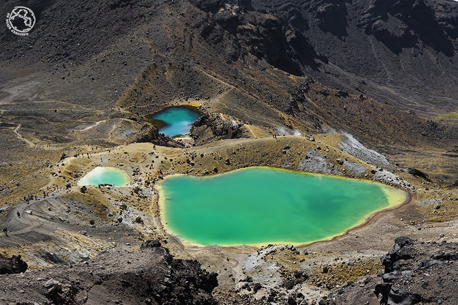 Emerald lakes en Tongariro