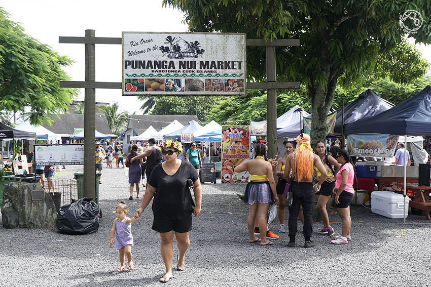 Punanga nui market Rarotonga