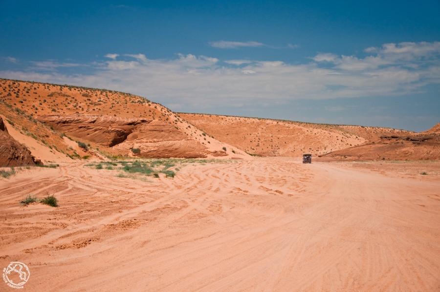 Camino a Antelope canyon
