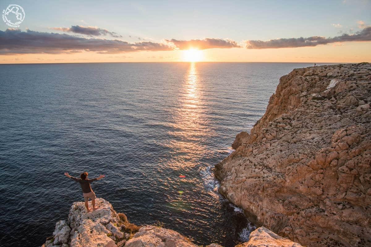 Atardecer desde faro Barbaria, Formentera