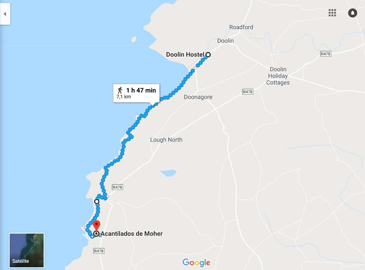 Ruta de Doolin a los acantilados de Moher