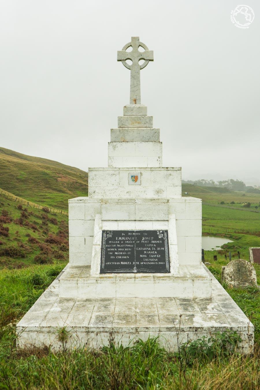 La tumba de Manuel José, el iniciador del clan español de Nueva Zelanda