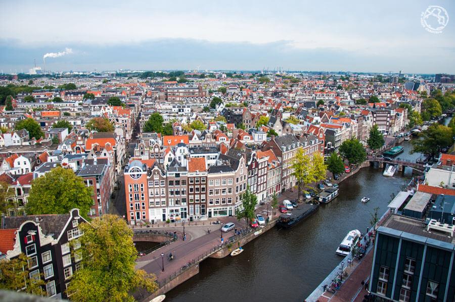 Vista panorámica de Amsterdam desde Westkerk