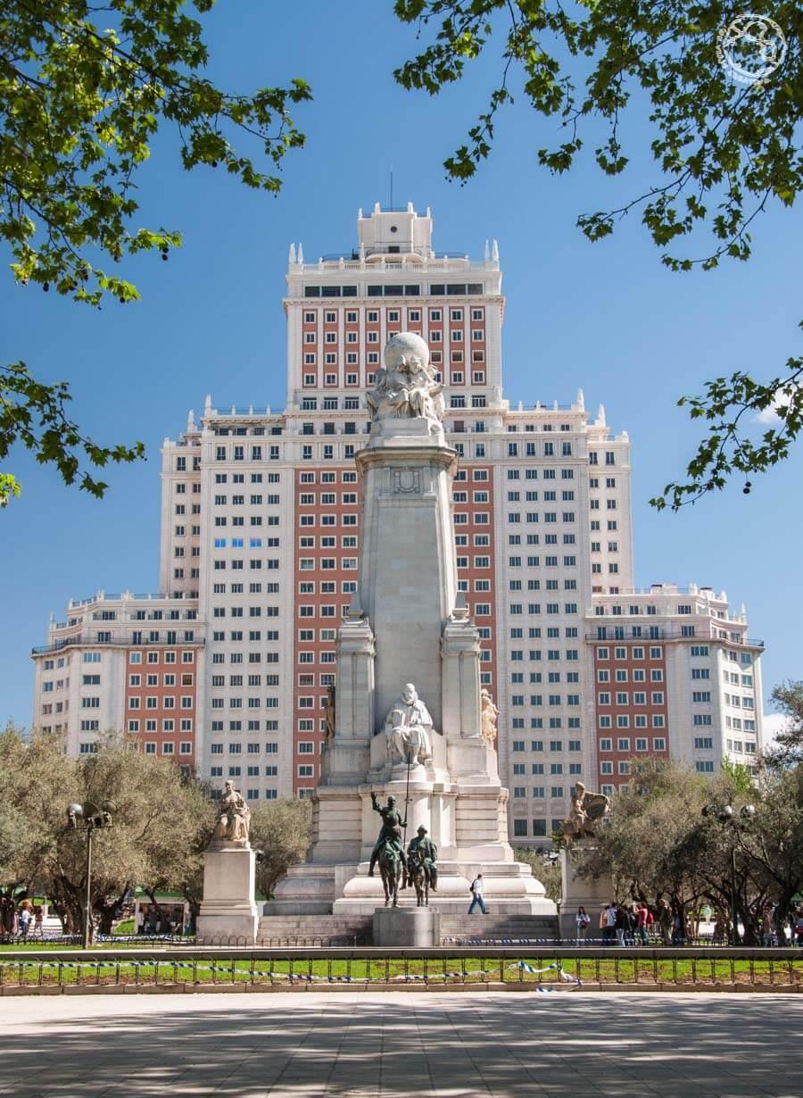 Plaza España vista Qué ver en Madrid