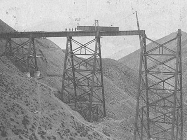 Construcción viaducto de la Polvorilla