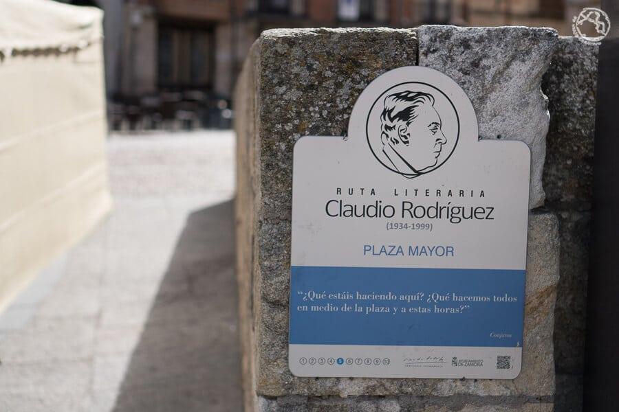 Ruta literaria de Claudio Rodríguez en Zamora
