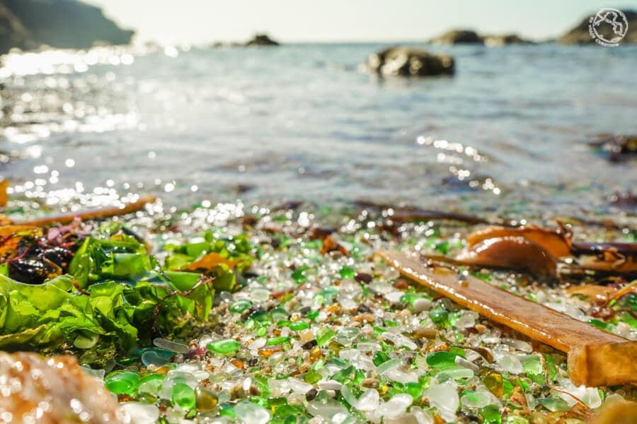 Playa de los cristales Laxe Coruña