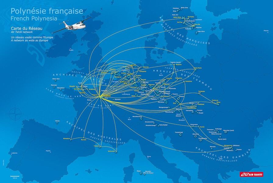 Vuelos internos Air Tahiti