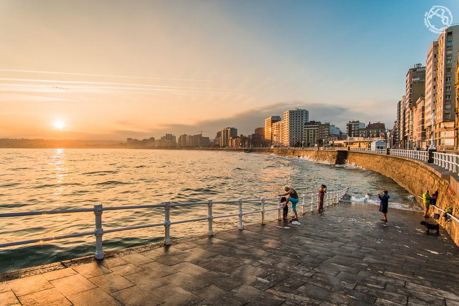 Gijón Asturias ruta en coche