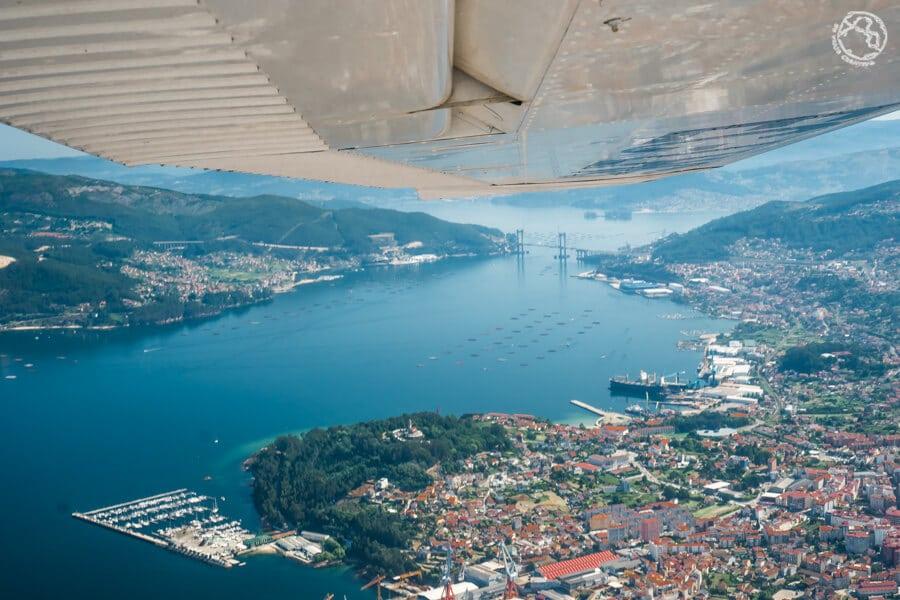 Visitar Vigo en avioneta