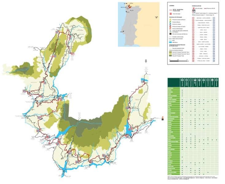 Mapa Ruta GR50 Peneda Geres Portugal