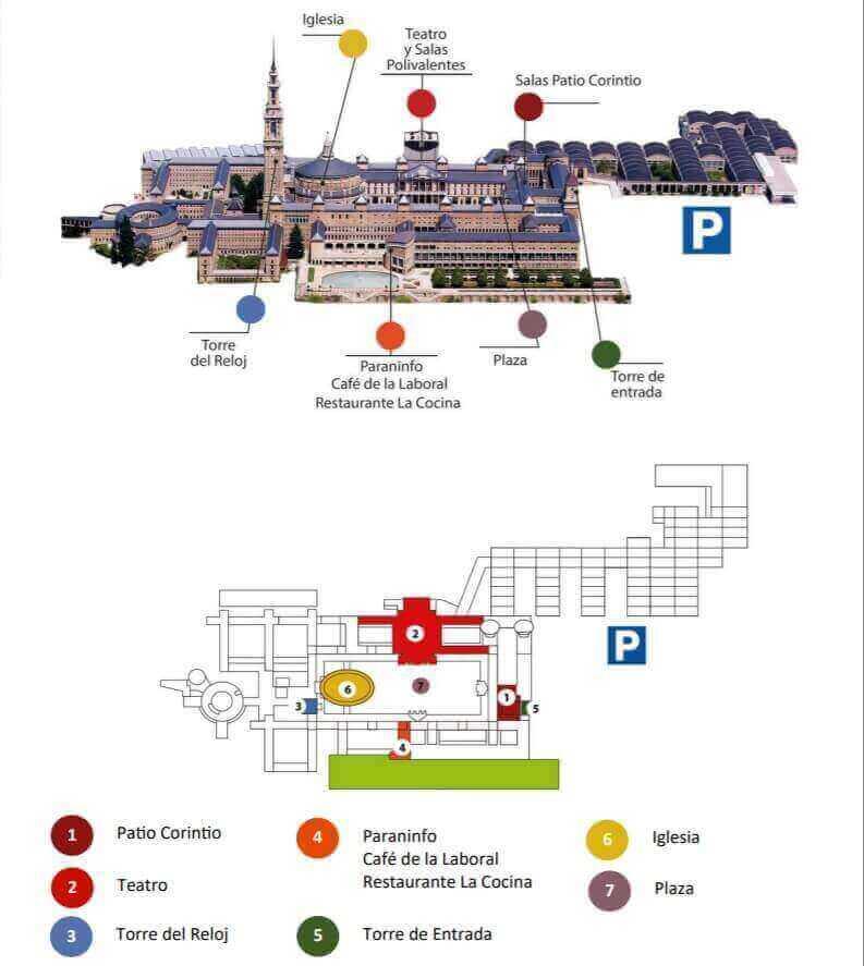 Plano visita La Laboral Gijón