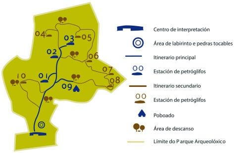 Mapa Parque Arqueológico Campo Lameiro