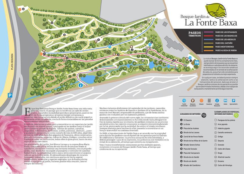 Bosque Jardín de la Fonte Baixa mapa