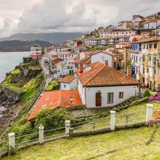 Ruta costa de Asturias mapa pueblos playas