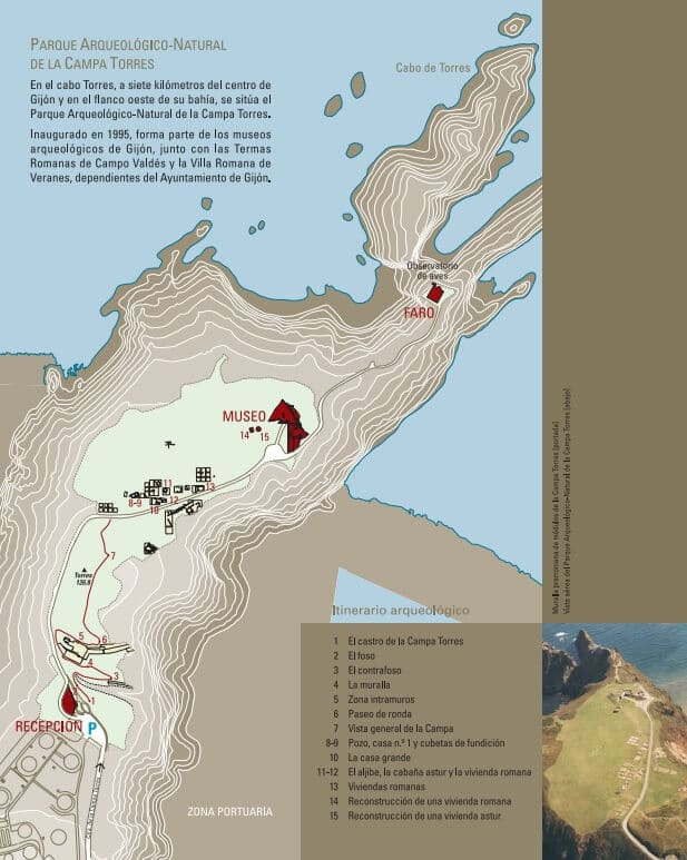 Mapa Campa Torres Gijón