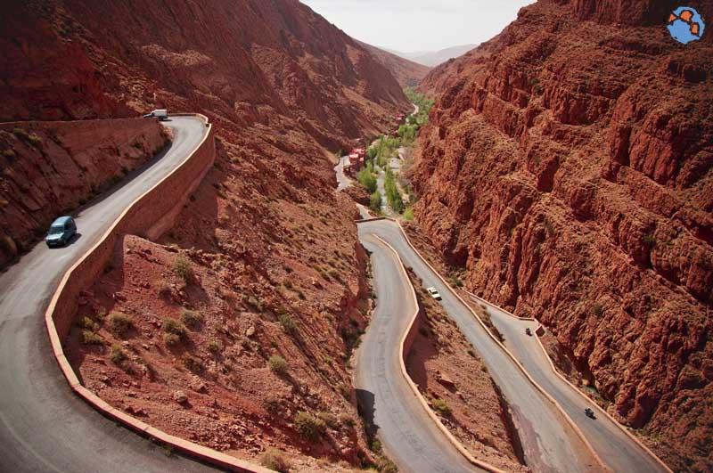Carretera Garganta del Dades Marruecos Tissadrine