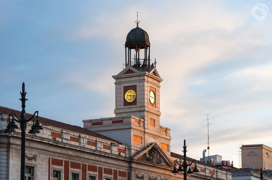 Puerta del Sol de Madrid reloj